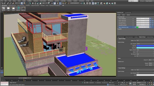 Phần mềm 3Ds Max được sử dụng rất phổ biến bởi sự tiện dụng