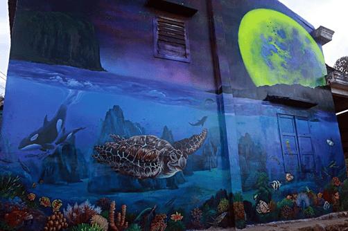 Sinh vật biển trong một bức ảnh 3D tại Thanh Thủy