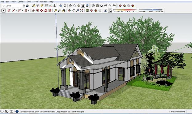 Sketchup là phần mềm thiết kế mô hình 3D đơn giản